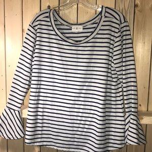 Thyme & Honey striped blouse XL